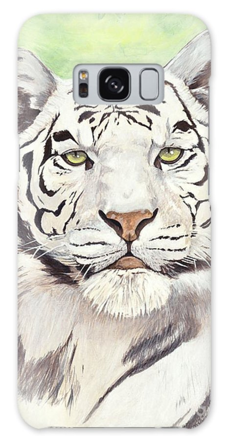 Tiger Galaxy Case featuring the painting White Silence by Shawn Stallings
