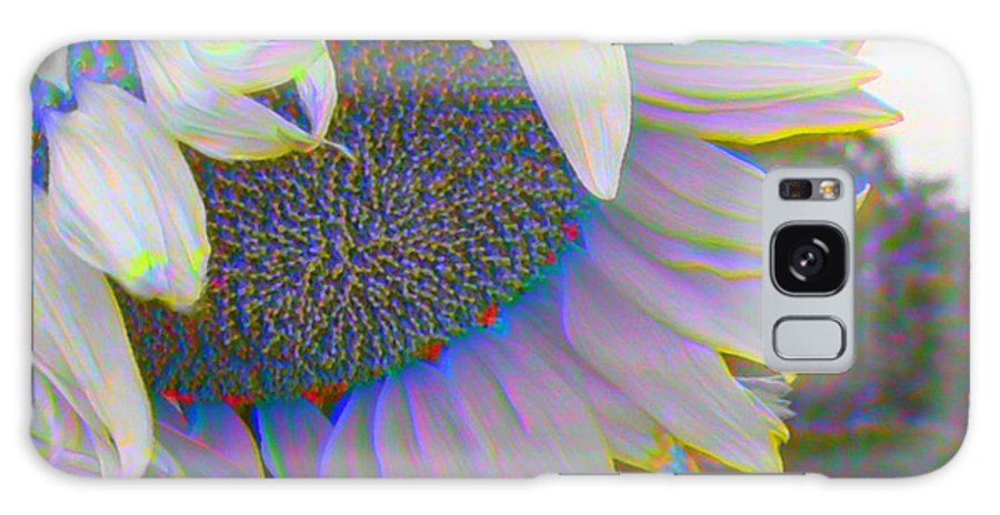 Landscape Galaxy S8 Case featuring the photograph White Sunflower by Vicky Brago-Mitchell