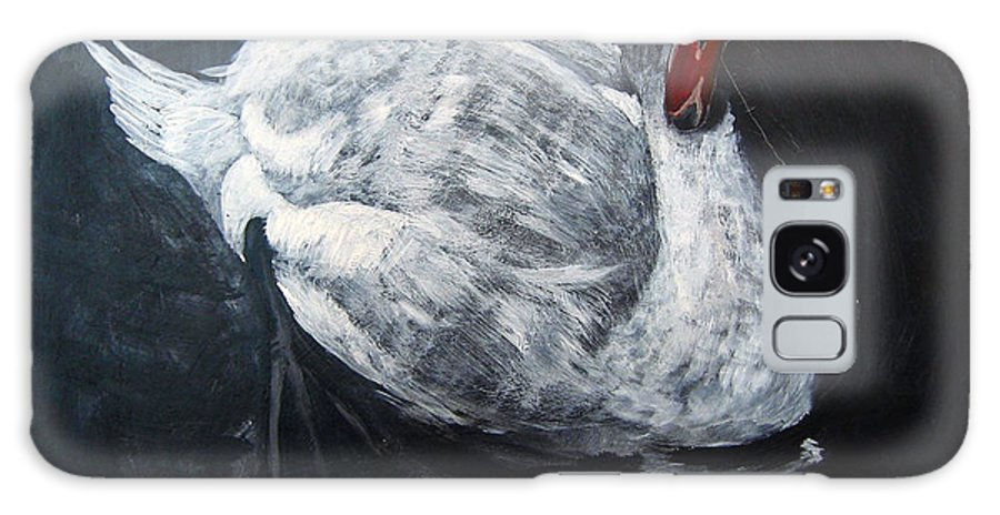 Swan Galaxy S8 Case featuring the painting White Swan by Richard Le Page