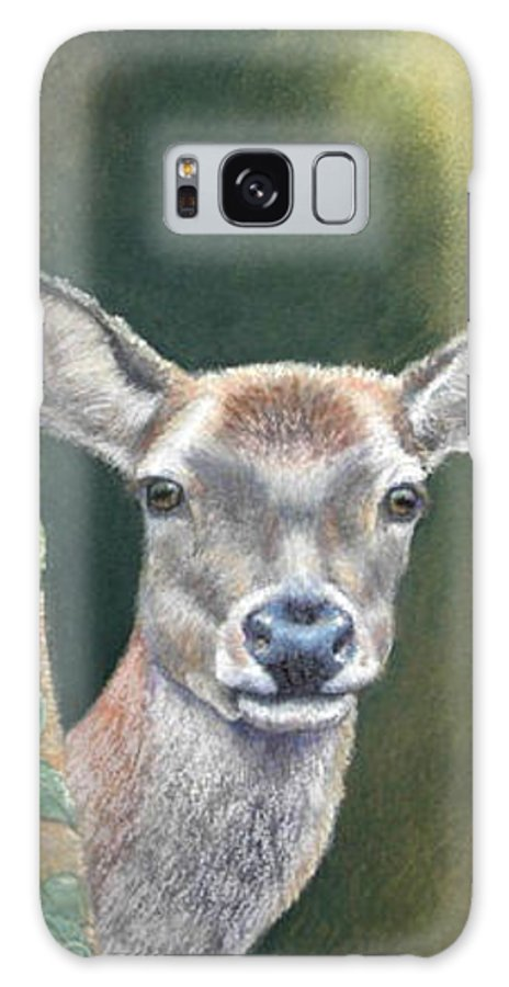 Rainforest Galaxy Case featuring the painting White Tail Doe At Ancon Hill by Ceci Watson