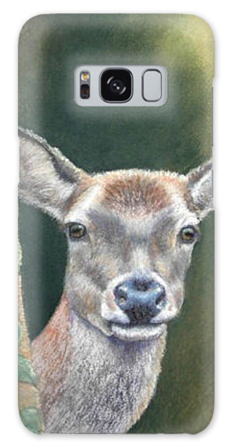 Rainforest Galaxy S8 Case featuring the painting White Tail Doe At Ancon Hill by Ceci Watson