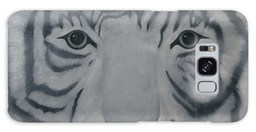 White Tiger Galaxy S8 Case featuring the painting White Tiger by Toni Berry