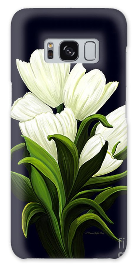 Mixed Media Galaxy S8 Case featuring the painting White Tulips by Patricia Griffin Brett