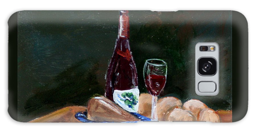 #still Life Prints Galaxy S8 Case featuring the painting White Wine by Gail Daley