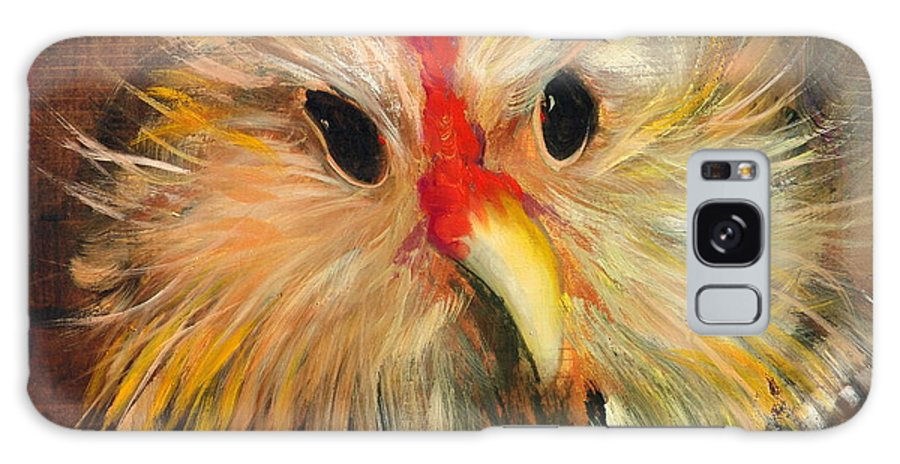 Chickens Galaxy S8 Case featuring the painting Whizzer by Sally Seago