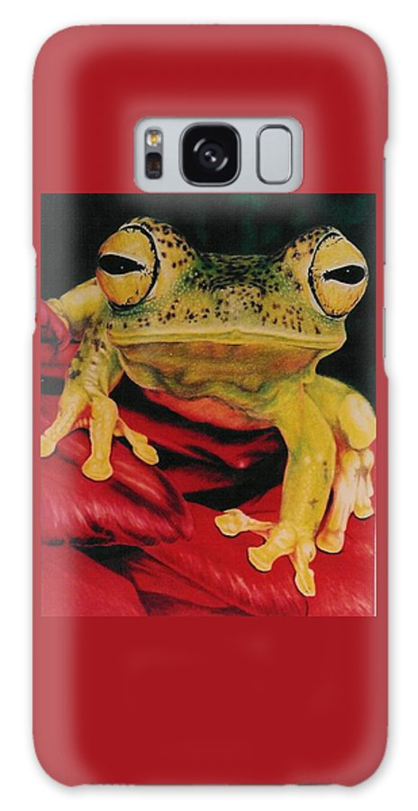 Art Galaxy Case featuring the drawing Who Loves Ya by Barbara Keith