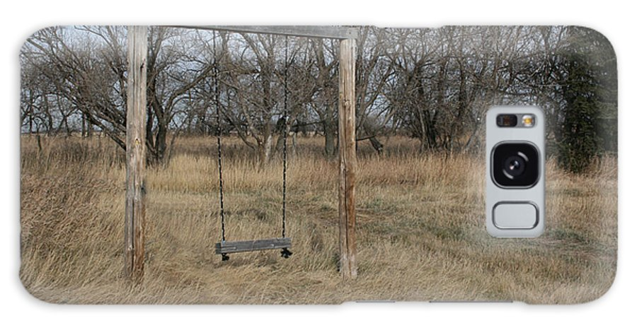 Swing Old Farm Grass Abandoned Trees Playgorund Lost Empty Lonely Galaxy S8 Case featuring the photograph Who Played Here by Andrea Lawrence