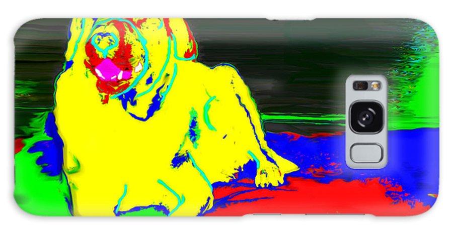 Laurette Escobar Galaxy S8 Case featuring the digital art Dog by Laurette Escobar