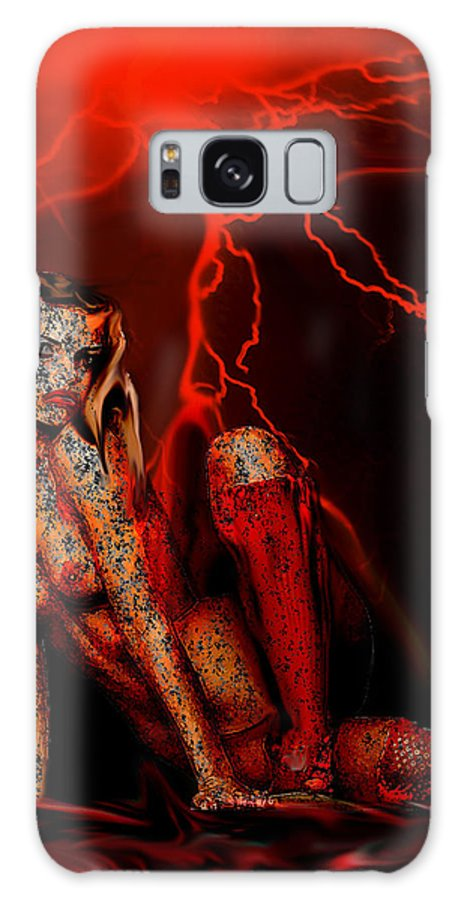 Diablo Galaxy S8 Case featuring the painting Wicked Beauty by Thomas Oliver