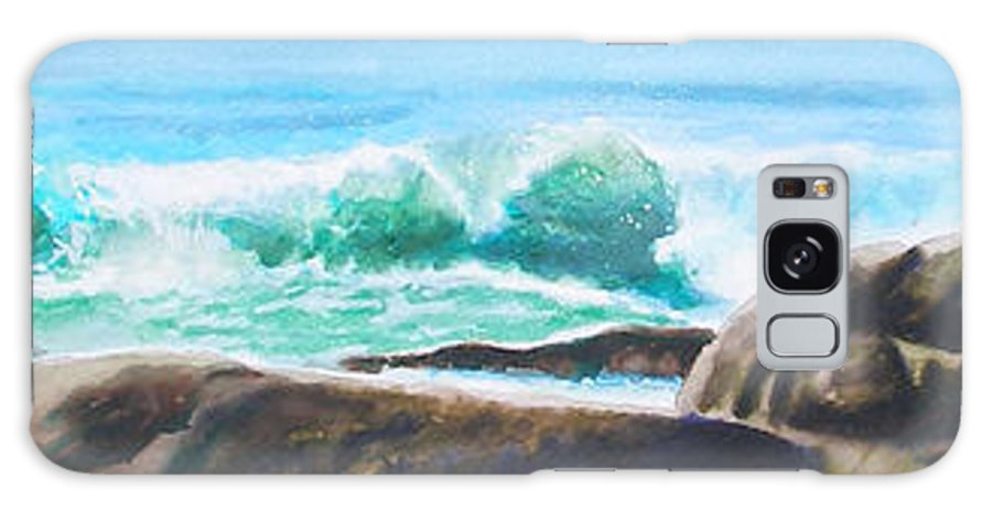 Seascape Galaxy S8 Case featuring the painting Widescreen Wave by Ken Meyer