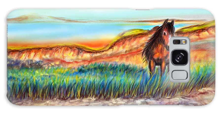 Wild Horse Art Galaxy S8 Case featuring the painting Wild And Free Sable Island Horse by Patricia L Davidson