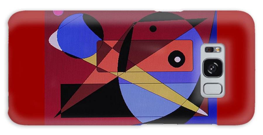 Abstract Bird Galaxy S8 Case featuring the digital art Wild Bird by Ian MacDonald