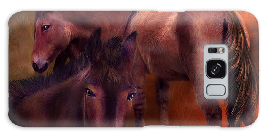 Horse Galaxy S8 Case featuring the mixed media Wild Breed by Carol Cavalaris