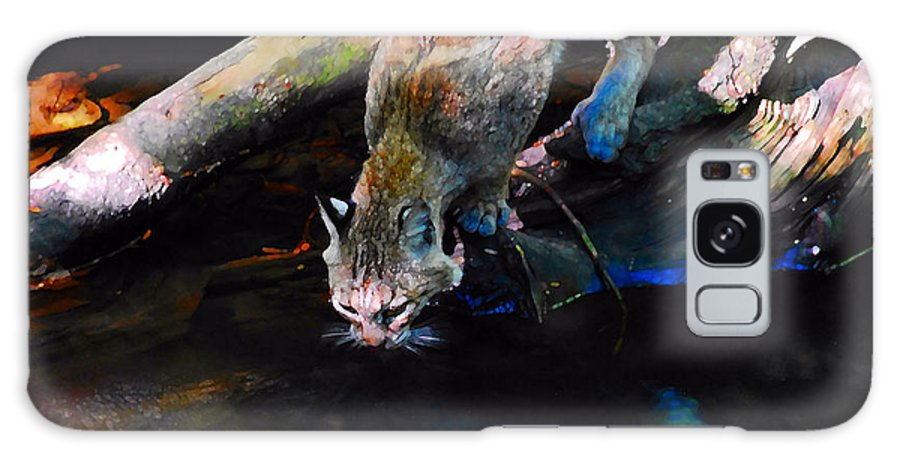 Cat.wild Galaxy S8 Case featuring the photograph Wild Cat Drinking by David Lee Thompson
