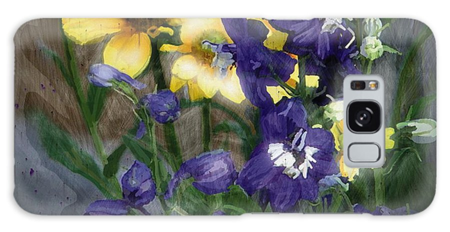 Floral Galaxy S8 Case featuring the painting Wild Flowers by Bob Salo
