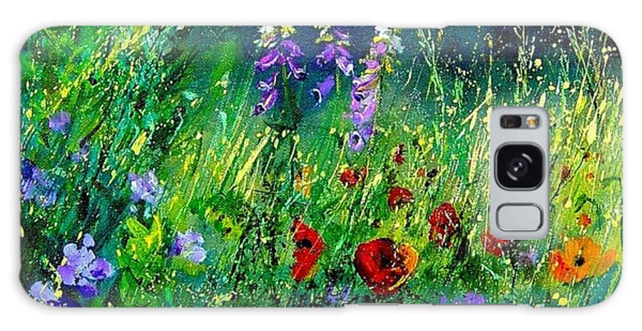 Poppies Galaxy Case featuring the painting Wild Flowers by Pol Ledent