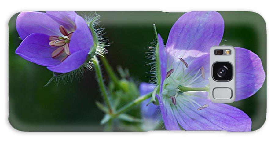 Geranium Galaxy S8 Case featuring the photograph Wild Geraniums by Larry Ricker