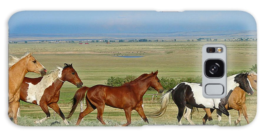 Herd Galaxy S8 Case featuring the photograph Wild Horses Wyoming by Heather Coen