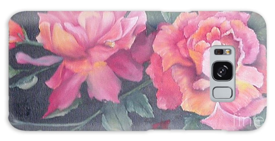 Rose Galaxy S8 Case featuring the painting Wild Roses by Barbara King
