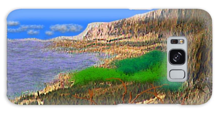 Sea Galaxy S8 Case featuring the digital art Wild Seashore by Dr Loifer Vladimir