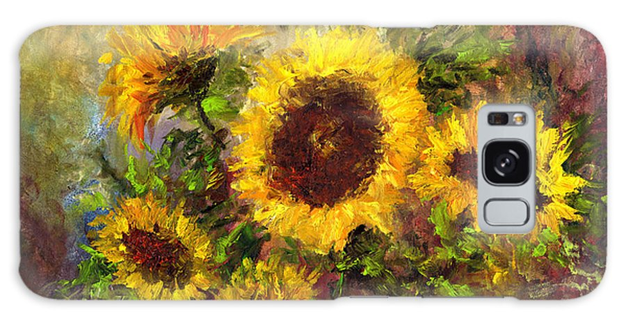 Vincent Van Gogh Galaxy Case featuring the painting Wild Sun by Laura Swink