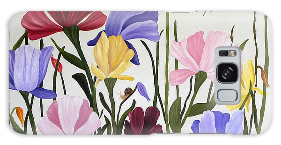 Tulips Galaxy S8 Case featuring the painting Wild Tulips by Terri Mills