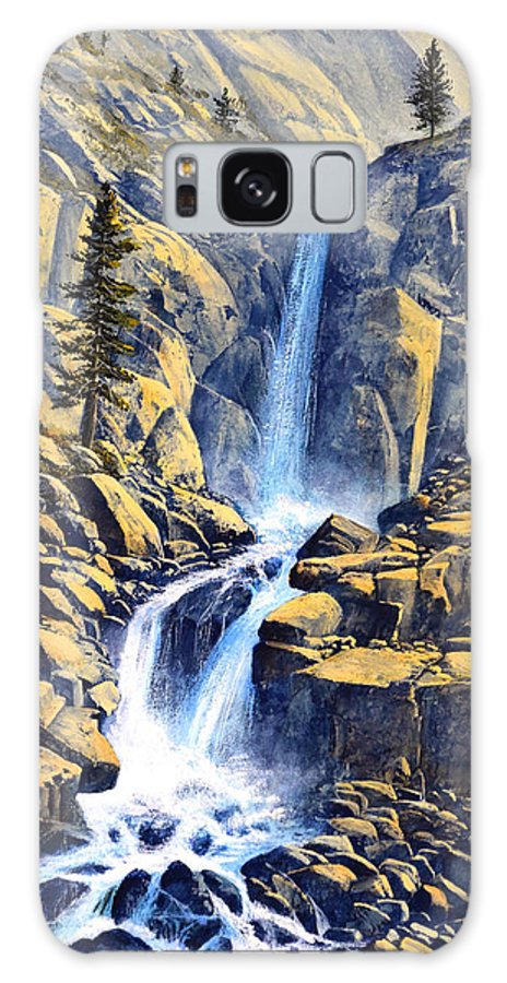 Wilderness Waterfall Galaxy S8 Case featuring the painting Wilderness Waterfall by Frank Wilson