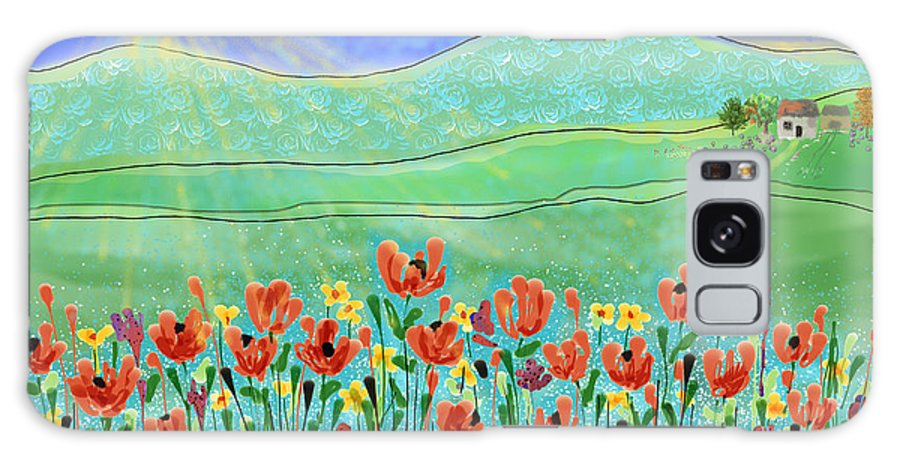 Flowers Galaxy S8 Case featuring the digital art Wildflowers In The Sun by Arline Wagner