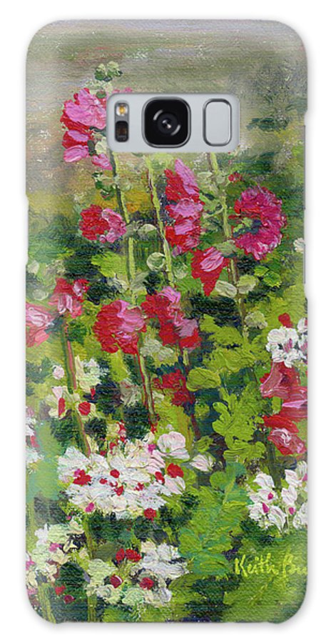 Impressionism Galaxy S8 Case featuring the painting Wildflowers by Keith Burgess