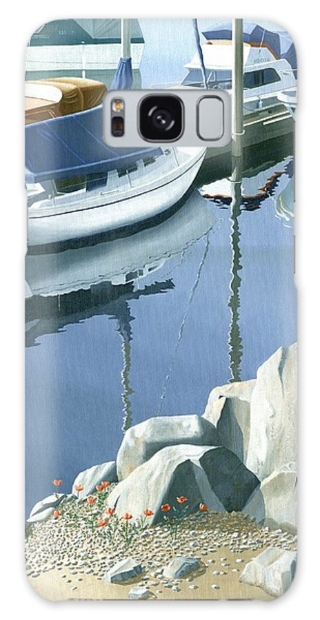 Sailboat Galaxy S8 Case featuring the painting Wildflowers On The Breakwater by Gary Giacomelli