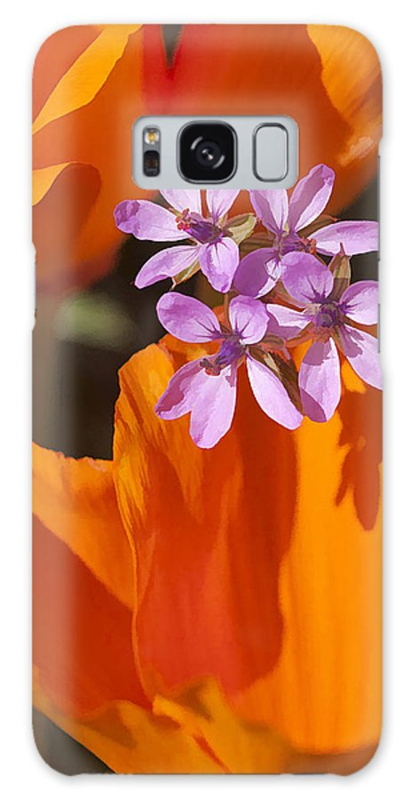 California Galaxy S8 Case featuring the digital art Wildflowers by Sharon Foster