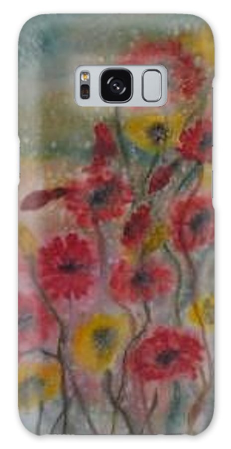 Watercolor Galaxy S8 Case featuring the painting WILDFLOWERS still life modern print by Derek Mccrea