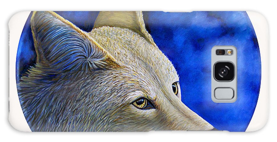 Coyote Galaxy S8 Case featuring the painting Wiley Coyote by Brian Commerford