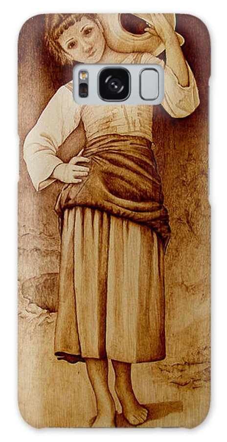 Pyrography Galaxy S8 Case featuring the pyrography William Bouguereau Water Carrier by Jo Schwartz