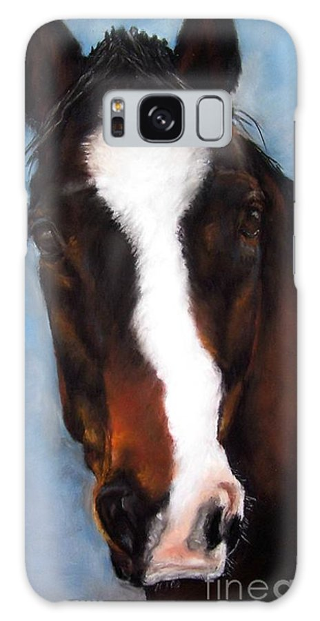 Horse Painting Galaxy Case featuring the painting Willie Duke by Frances Marino
