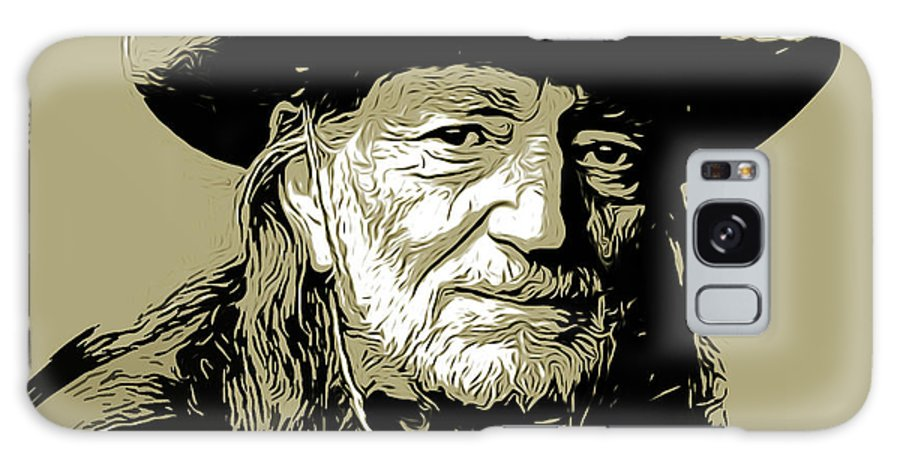 Willie Nelson Galaxy S8 Case featuring the mixed media Willie by Greg Joens