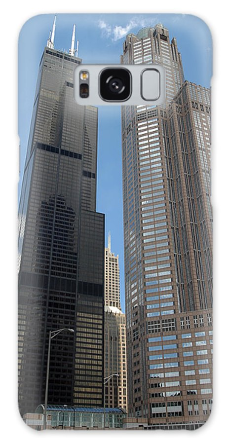 3scape Galaxy Case featuring the photograph Willis Tower Aka Sears Tower And 311 South Wacker Drive by Adam Romanowicz