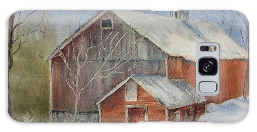 Barn Galaxy S8 Case featuring the painting Williston Barn by Carol Mueller