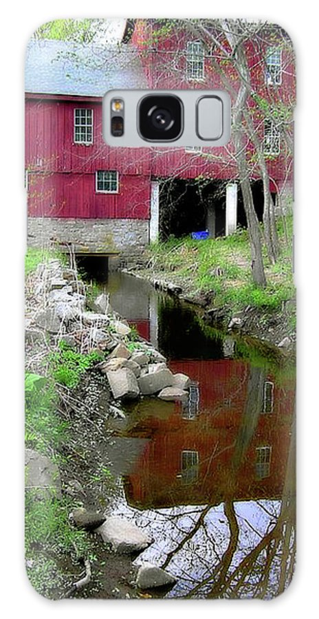2d Galaxy S8 Case featuring the photograph Williston Mill Reflections by Brian Wallace