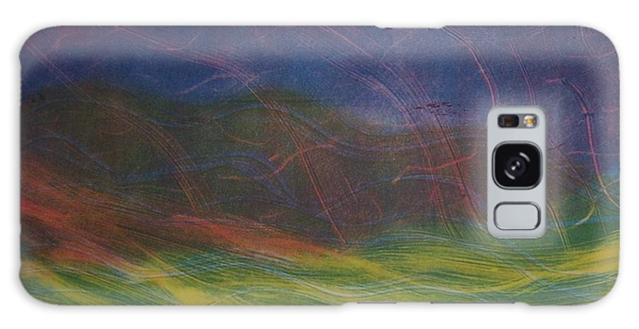 Landscape Galaxy Case featuring the painting Wind by Emily Young