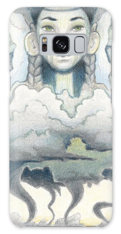 Atc Galaxy S8 Case featuring the drawing Wind Spirit Dances by Amy S Turner