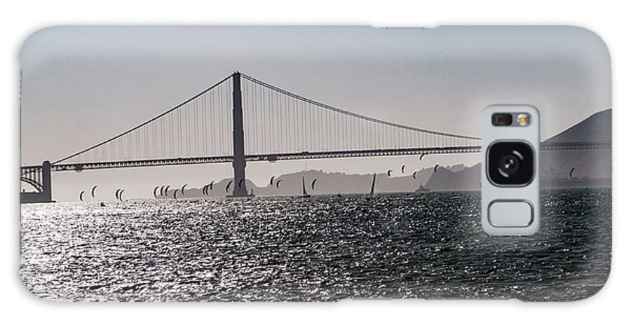 San Francisco Galaxy S8 Case featuring the photograph Wind Surfing Under The Bridge by Andrew Hollen