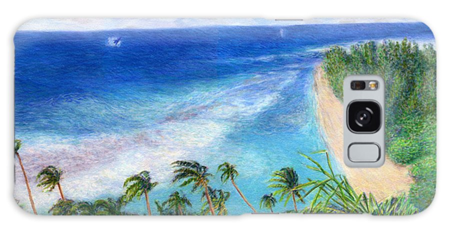 Rainbow Colors Pastel Galaxy Case featuring the painting Windblown by Kenneth Grzesik