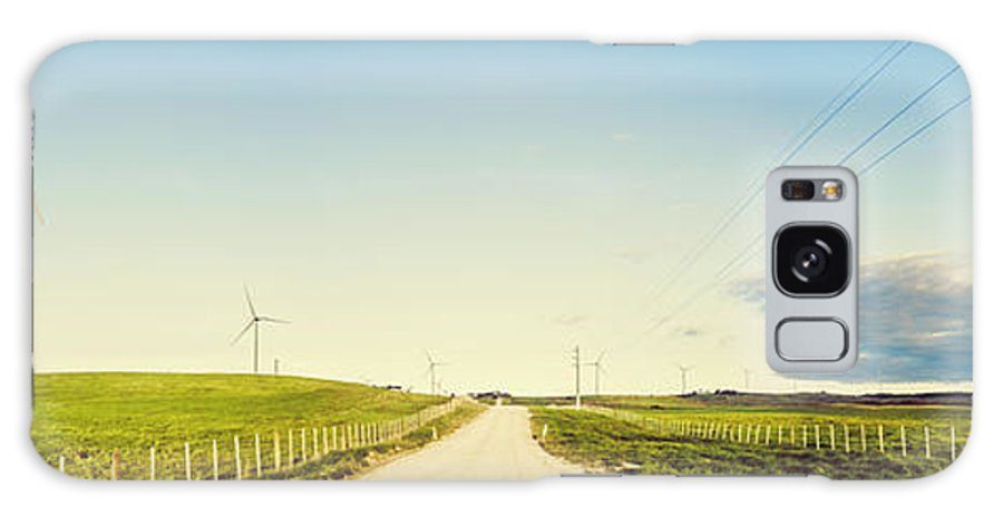 Windfarm Galaxy Case featuring the photograph Windfarm Way by Jorgo Photography - Wall Art Gallery
