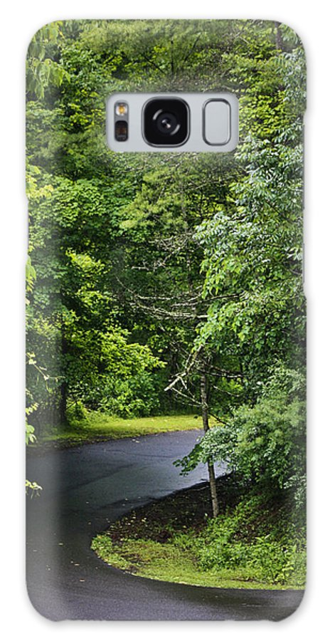 Rain Galaxy S8 Case featuring the photograph Winding Road Bluestone State Park West Virginia by Teresa Mucha
