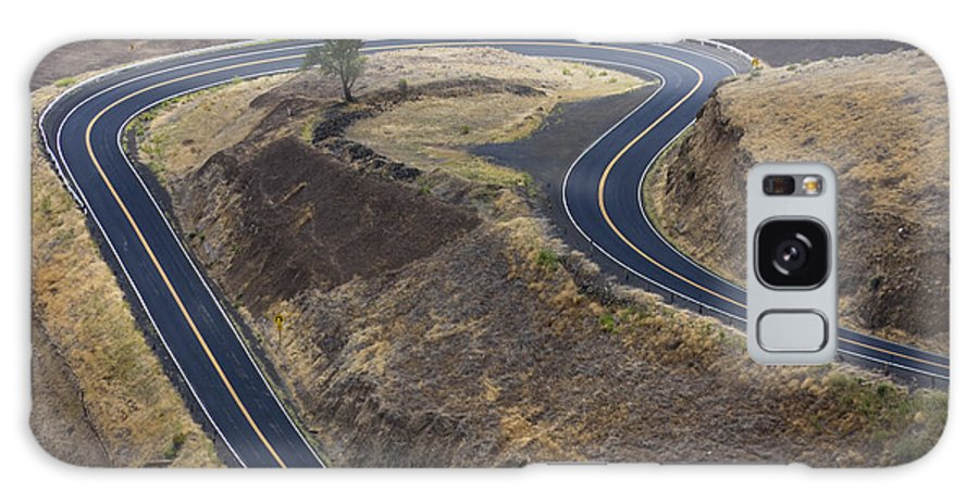 Road Galaxy Case featuring the photograph Winding Road by Idaho Scenic Images Linda Lantzy