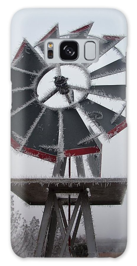 Windmill Galaxy S8 Case featuring the photograph Windmill Frost by Sara Stevenson