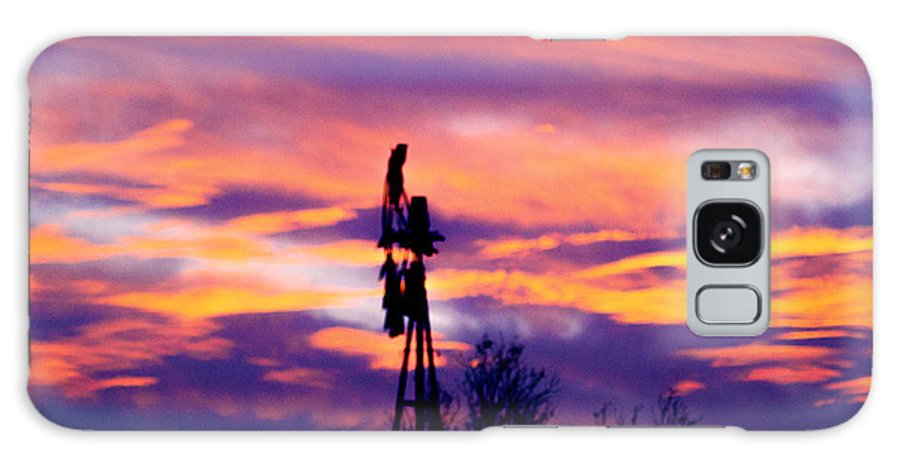 Sunset Galaxy S8 Case featuring the photograph Windmill Sunset by Crystal Blair