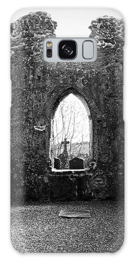 Ireland Galaxy Case featuring the photograph Window At Fuerty Church Roscommon Ireland by Teresa Mucha