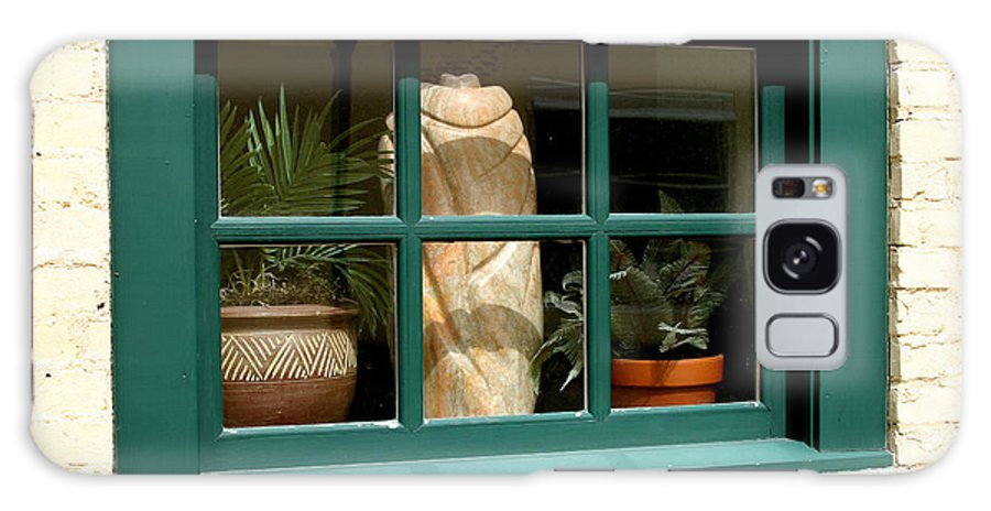 Fern Galaxy Case featuring the photograph Window At Sanders Resturant by Steve Augustin